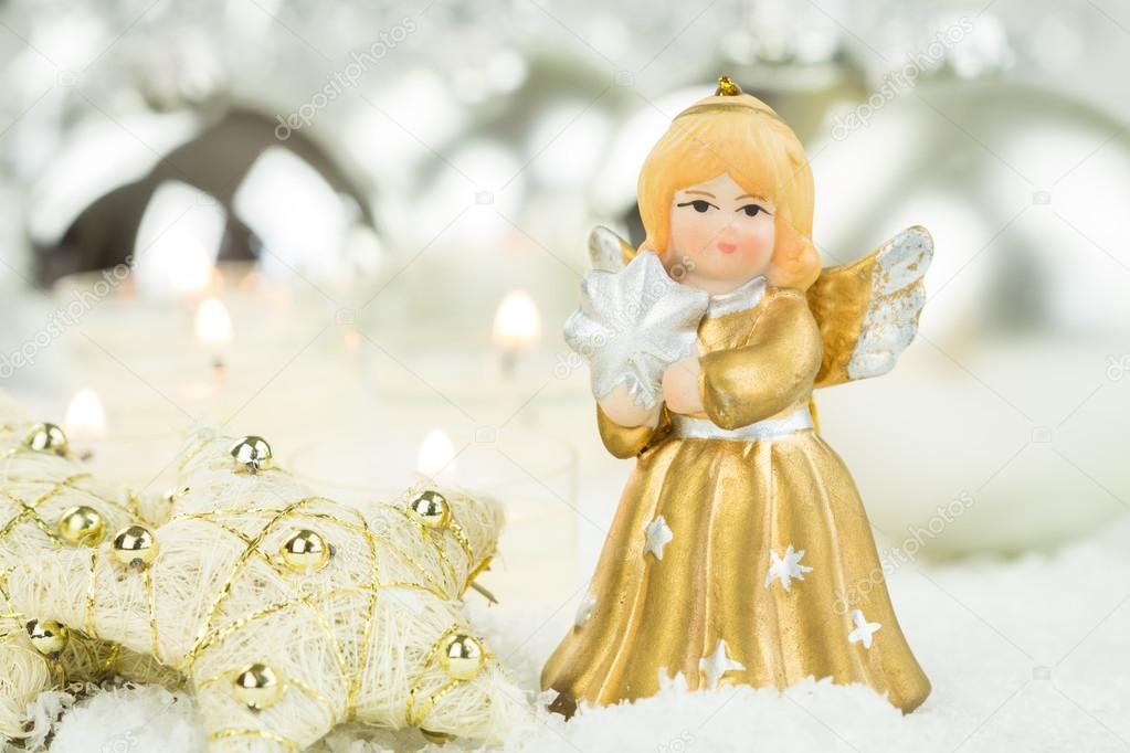 Leuke kerst engel beeldje — Stockfoto © nilswey #90495510