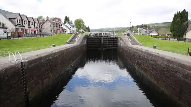 Caledonian canal lock gate Fort Augustus Scotland UK
