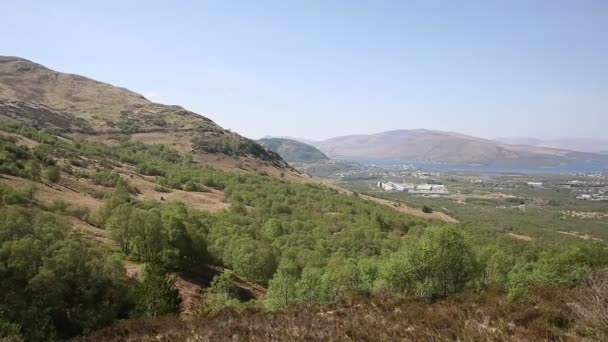 Fort William Uk Skotsko od Ben Nevis v regionu Grampians Lochaber Vysočiny v létě pan