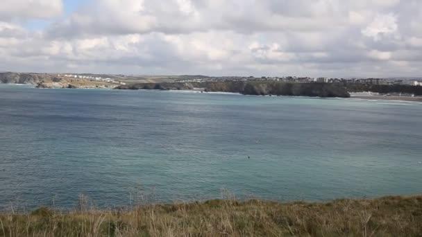 Newquay Bay Cornwall Anglie, Velká Británie