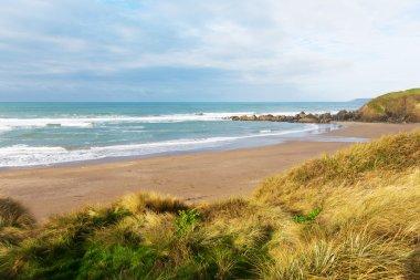 Challaborough beach South Devon England uk popular for surfing near Burgh Island and Bigbury-on-sea on the south west coast path
