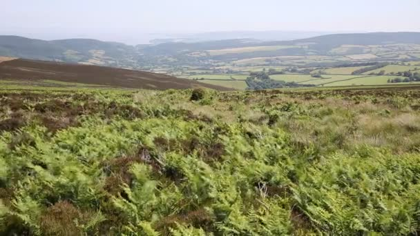 Pohled z Dunkery kopce nejvyšší bod na Exmoor Minehead Somerset Anglie Uk