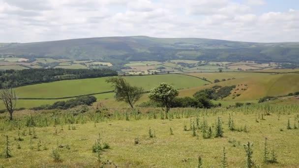 Pohled na Dunkery Hill nejvyšší bod na Exmoor Somerset Anglie Uk Pan