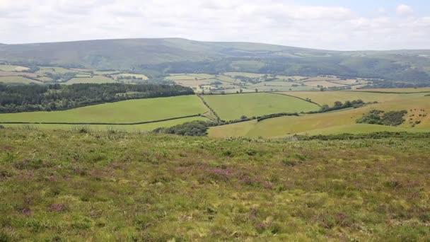 Pohled na Dunkery Hill nejvyšší bod na Exmoor Somerset Anglie Uk