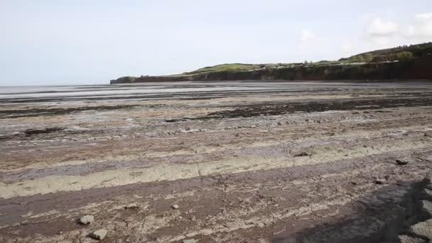 St Audries Bay Somerset England uk near Watchet pan of beach and rocks