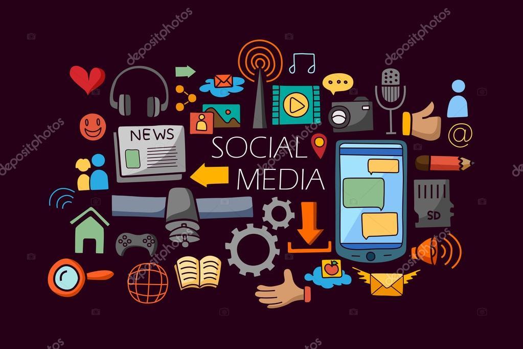 Social Media Concept For Web Design Template Stock Vector C Stockshoppe 109278754