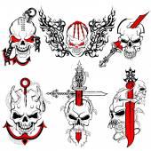 Fényképek Koponya tetoválás Design