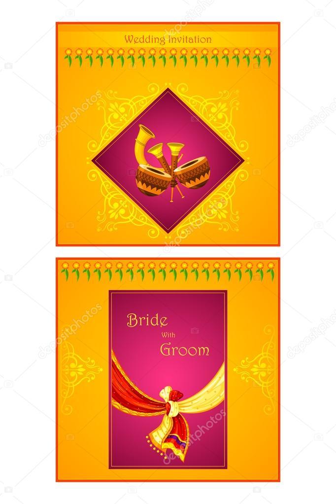 Indian Wedding Invitation Card Stock Vector C Stockshoppe 61543399