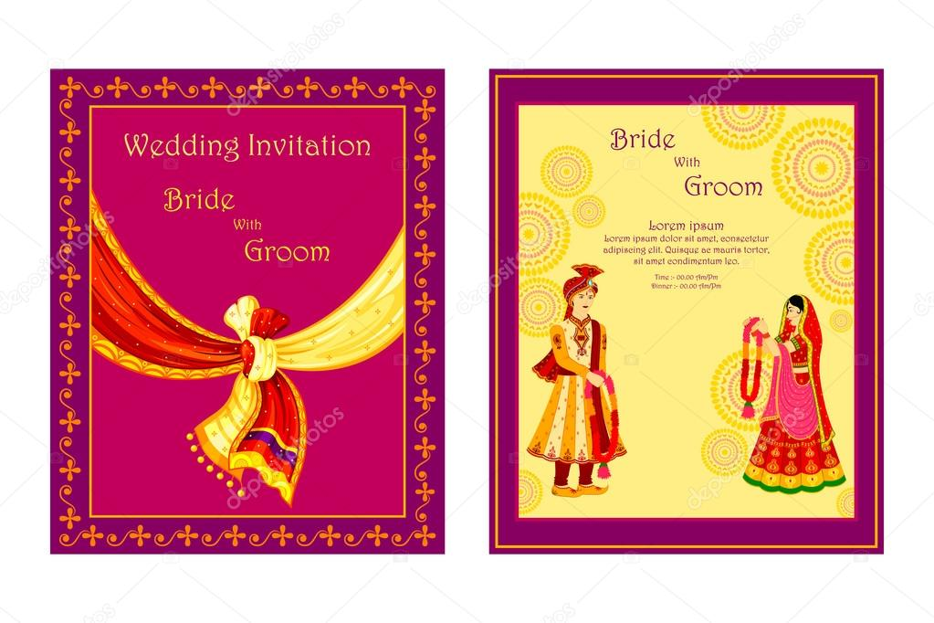 ᐈ South Indian Wedding Invitation Templates Stock Cliparts