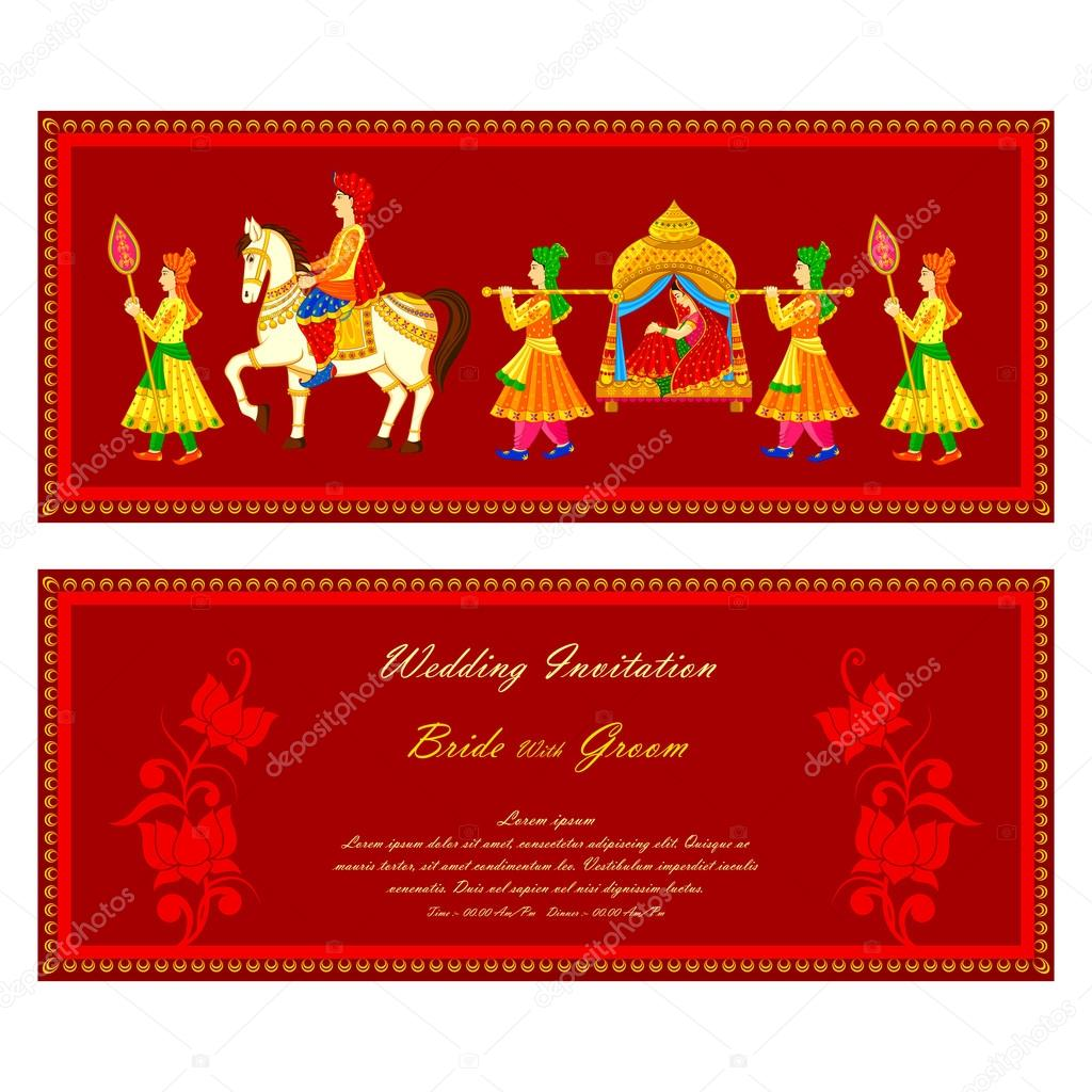 Wedding Cards Templates India Indian Wedding Invitation