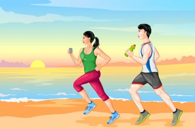 Couple jogging for wellness