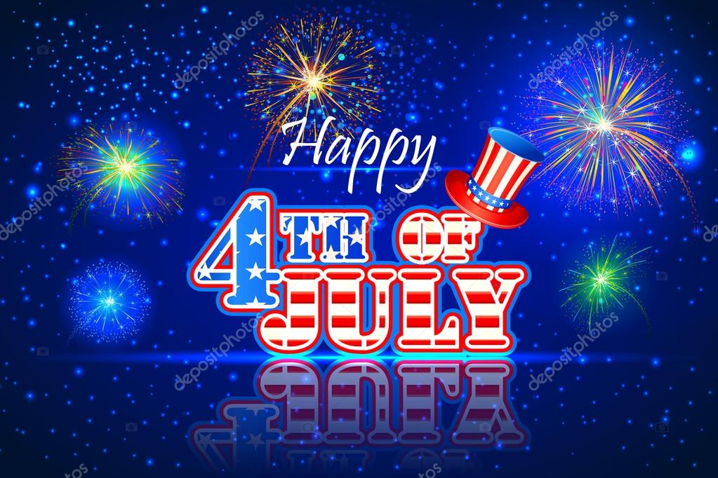 4th Of July Wallpaper Background Stock Vector