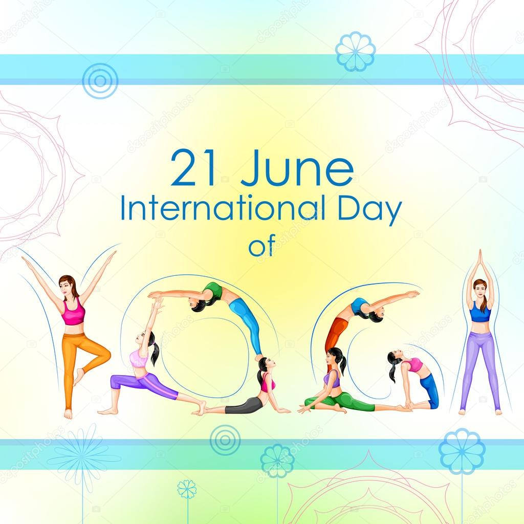 International Yoga Day Stock Vector