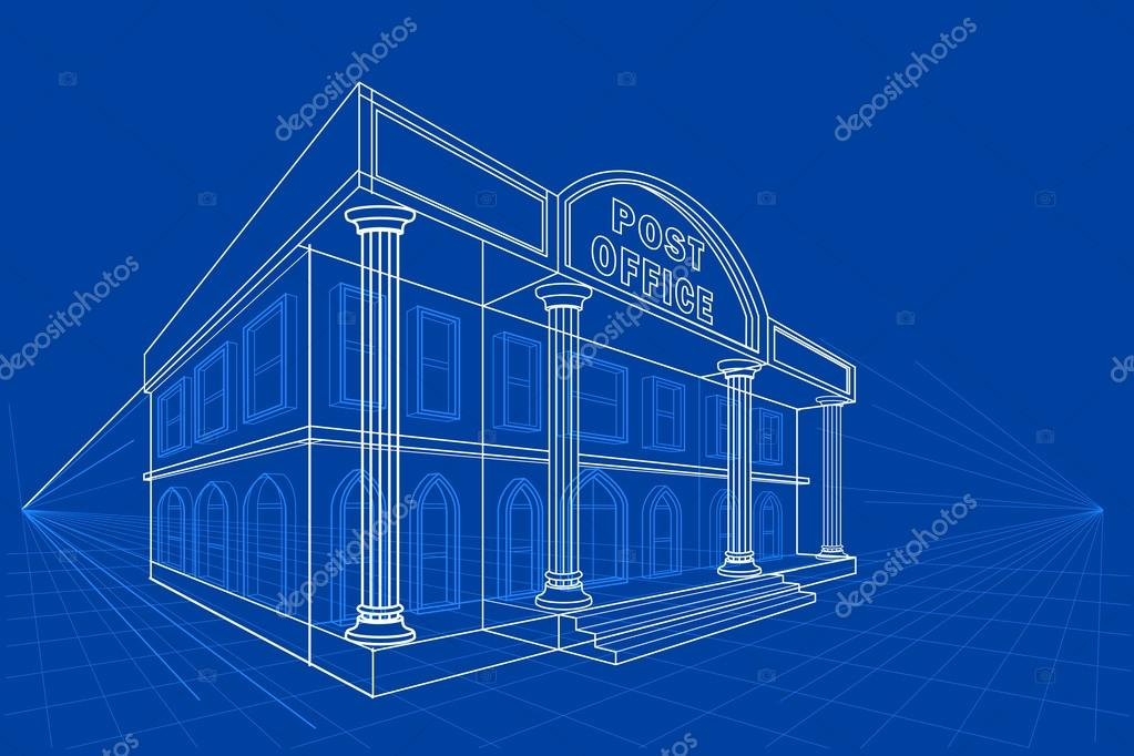 Blueprint of building stock vector stockshoppe 99491882 blueprint of building stock vector malvernweather Image collections