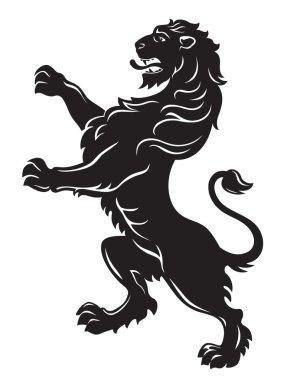Heraldic roaring lion