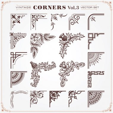 Vintage Design Elements Corners And Borders 3