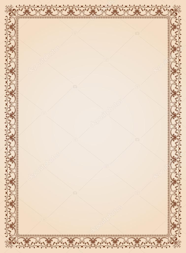 Decorative border frame certificate template 4 vector stock vector decorative border frame background certificate template 4 vector vector by digiselector yelopaper Image collections
