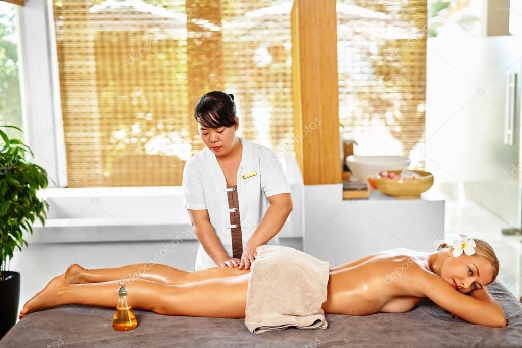 Leg Massage Spa Therapy  Body Care  Masseur Massaging Female