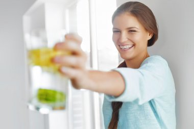Healthy Lifestyle Concept, Diet And Fitness. Woman Drinking Wate