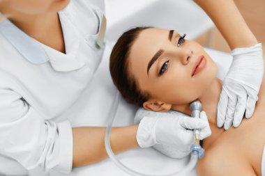 Face Skin Care. Diamond Microdermabrasion Peeling Treatment, Bea