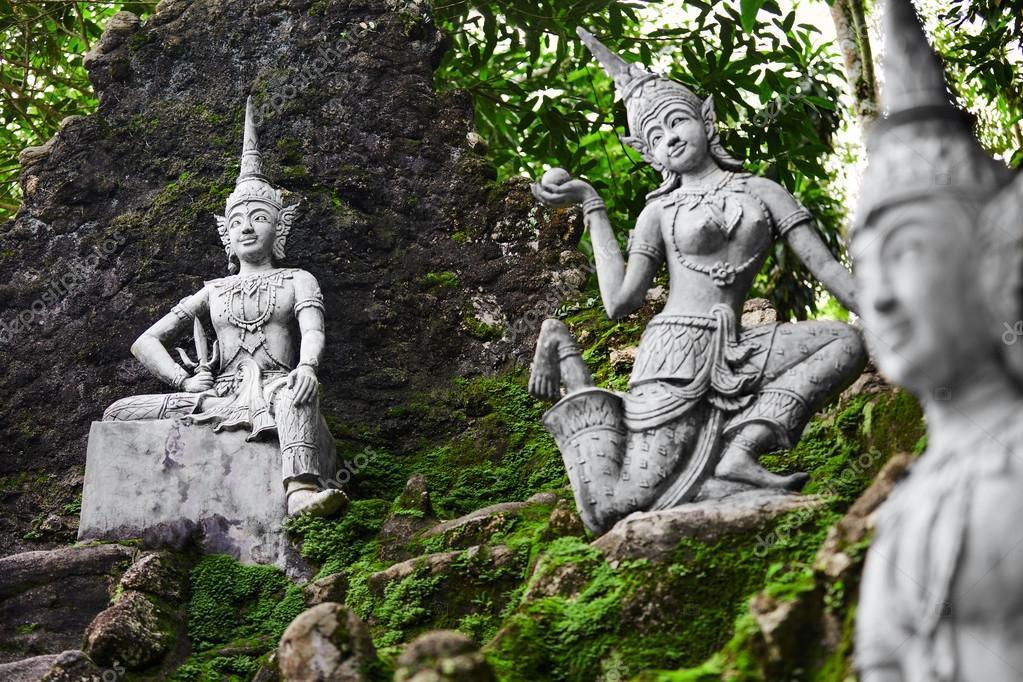 Thailand Magic Secret Buddha Garden Statues In Samui Travel T Stock Photo Image By C Puhhha 96091884