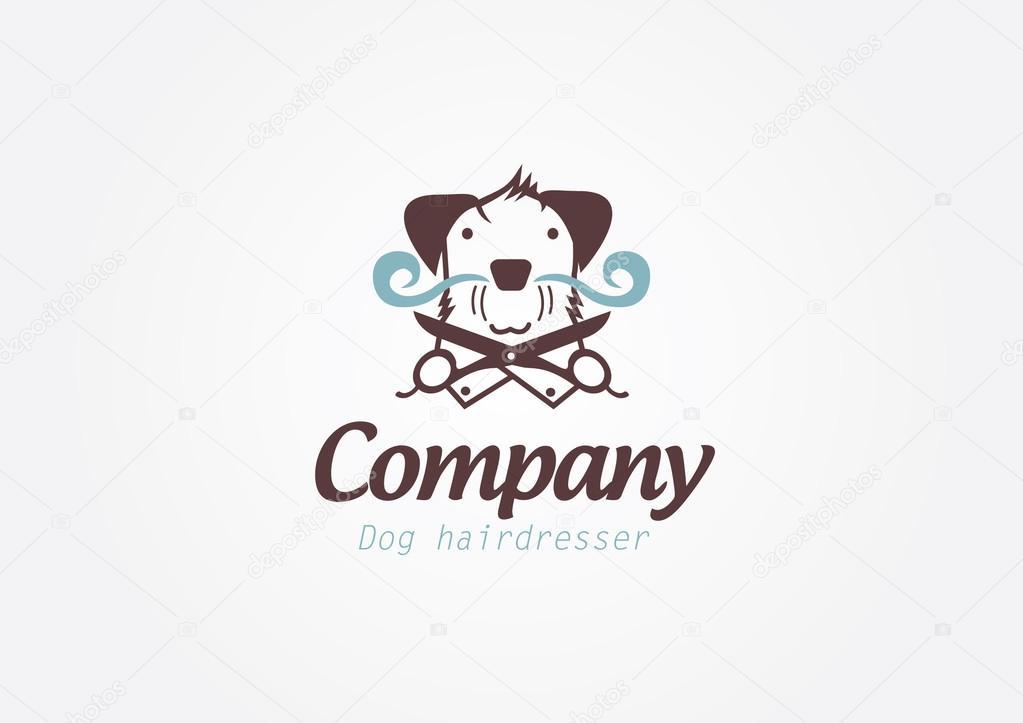 Conceito de design codesign para mimar barbeiro ou cabeleireiro. Vetor  logotipo template.ncept para mimar barbeiro ou cabeleireiro.