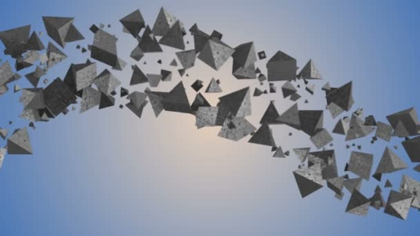 3d abstract geometric background with cloud of triangles