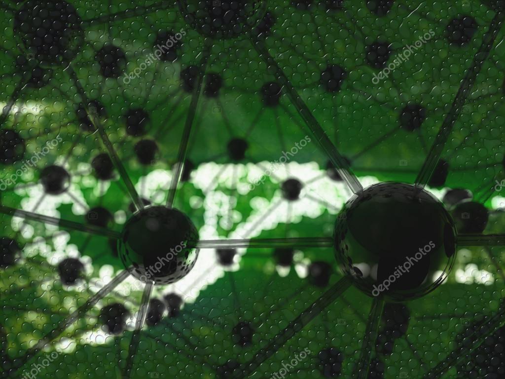 Estructura Abstracta Del Caos Geométrica Molecular Fondo