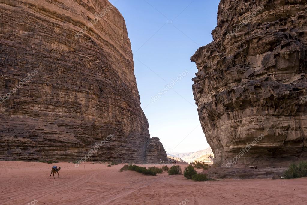 Lawrence of Arabia valley in Wadi Rum desert, Jordan.