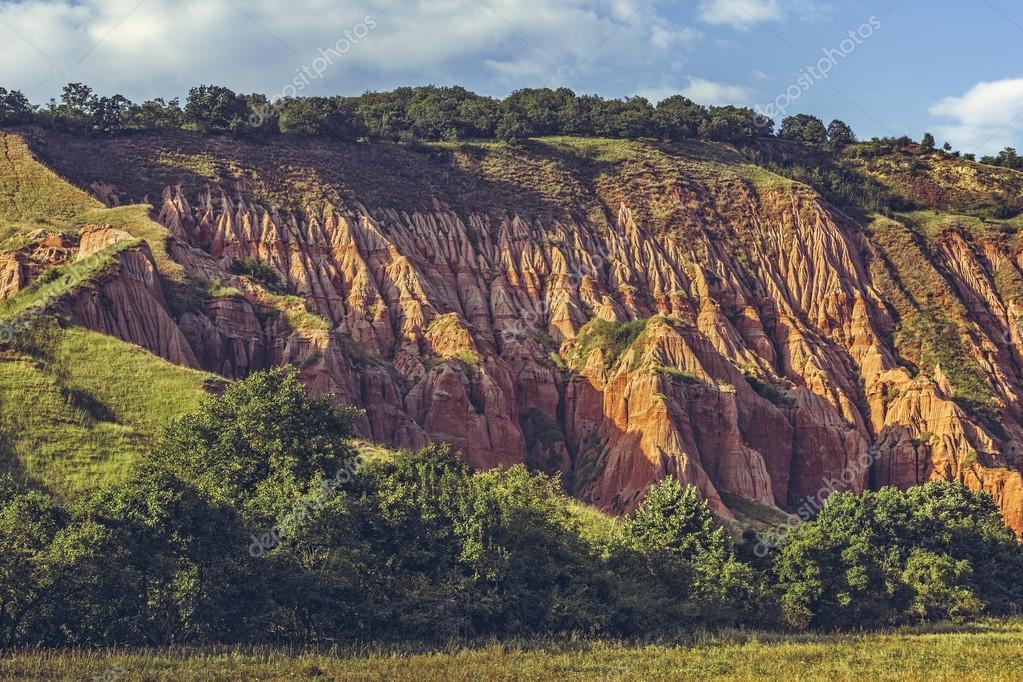 rapa rosie red ravine sebes romania stock photo photosebia