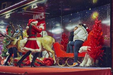 Christmas snapshot in Coca-Cola truck