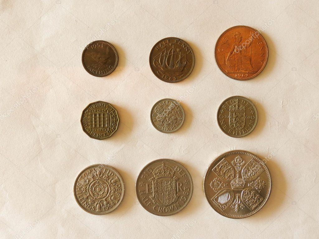 Pre Decimal Gbp Britische Pfund Münzen Währung Des Vereinigten