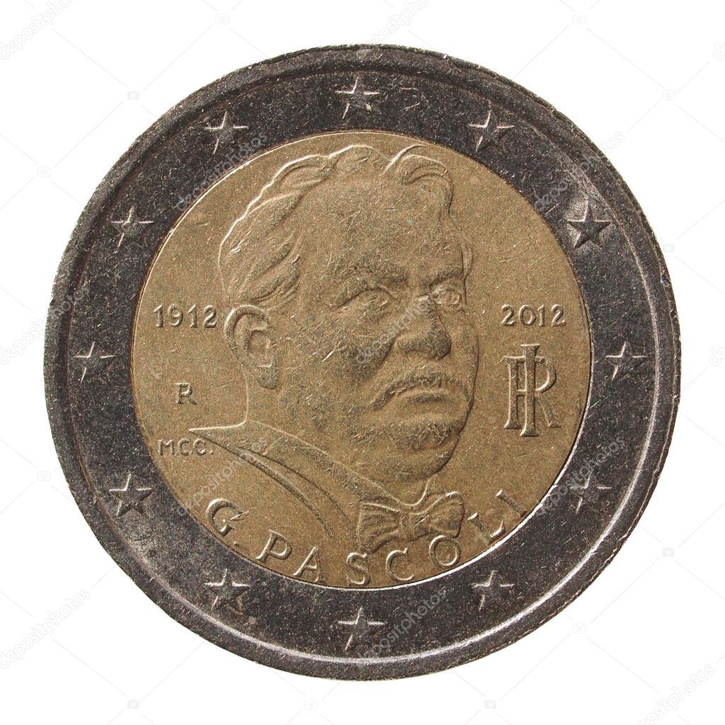 2 Euro Münze Aus Italien Stockfoto Route66 97885002