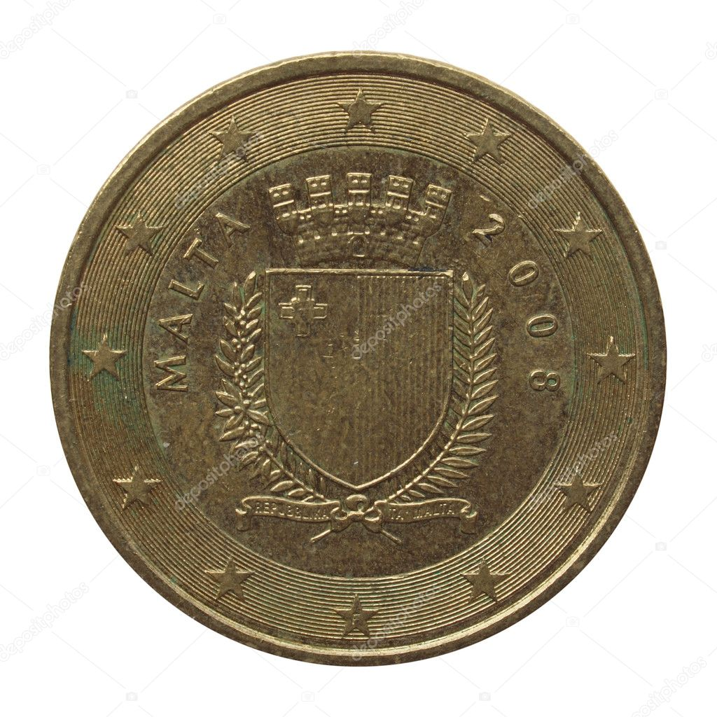 Euro Münze Aus Malta Stockfoto Route66 99147298