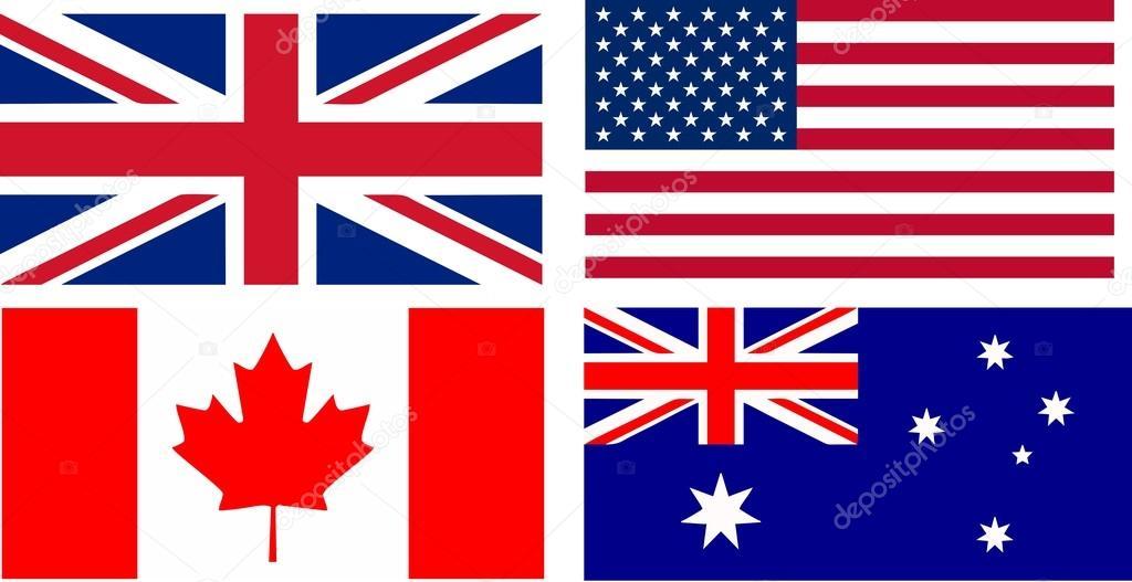 Banderas De Paises De Habla Ingles Archivo Imagenes Vectoriales