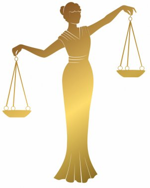 gold libra lady justic.   Equality balance right  fair trial .