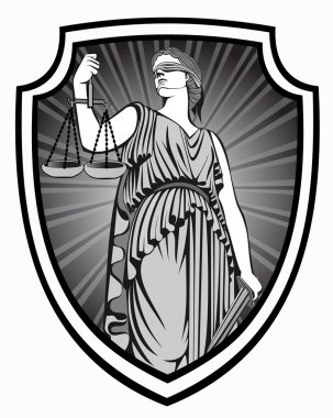 lady justice .Themis . Equality .  fair trial . Law .defense shield