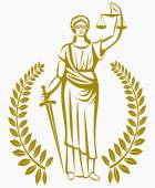 Fotografie lady justice . Greek goddess Themis . Equality .  fair trial . Law . Laurel wreath .