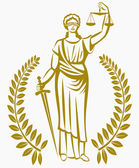 Fotografia lady justice . Greek goddess Themis . Equality .  fair trial . Law . Laurel wreath .