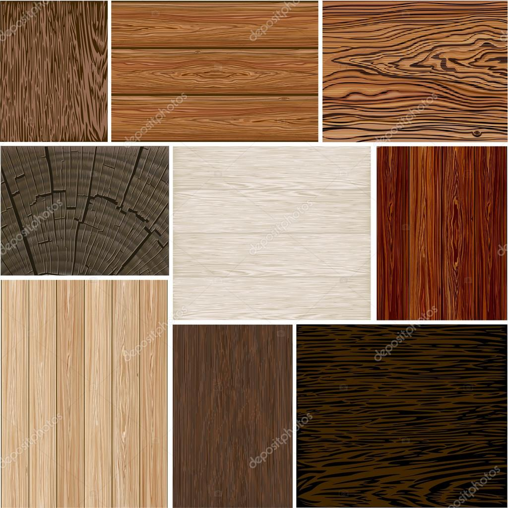 Set  different wood textures . seamless. Vector backgrounds . Brown white beige . boards .