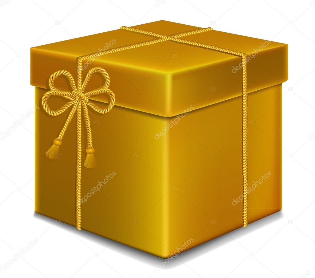 Gift box gold color vicvic11 93125208 gift box gold color negle Gallery