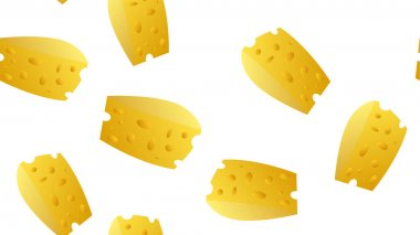 Cheese slice vector seamless pattern on a white background for wallpaper, wrapping, packing, and backdrop. icon