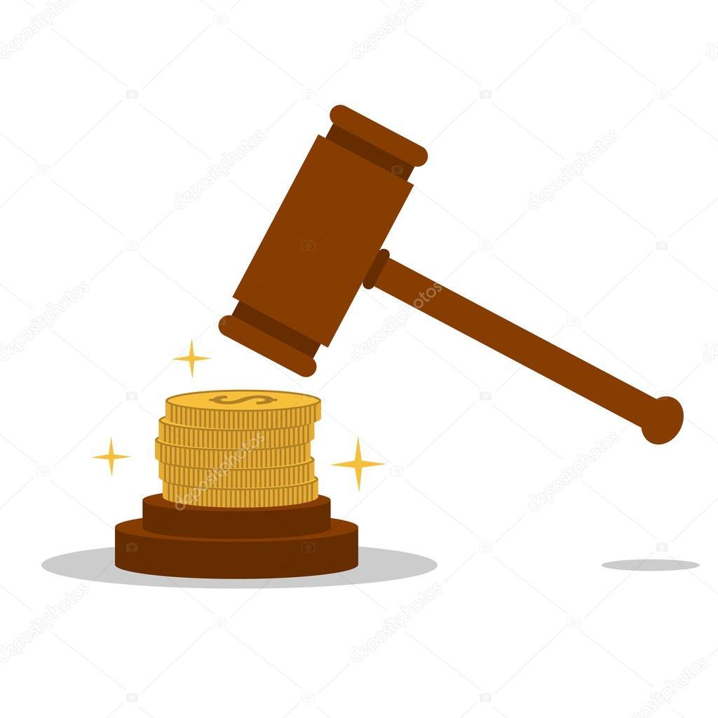 Isolated cartoon law hammer and bribery stock vector - Imagenes de animacion ...