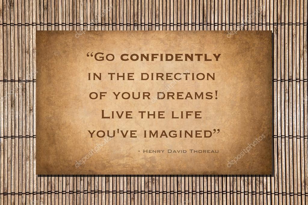 Citaten Over Vertrouwen : Thoreau quote vol vertrouwen gaan u stockfoto alancrosthwaite