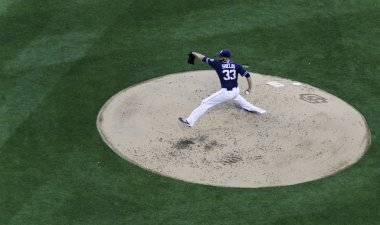 April 11, 2015 San Diego, California - Padres pitcher James Shields