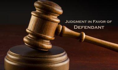 Judgment in favor of defendant