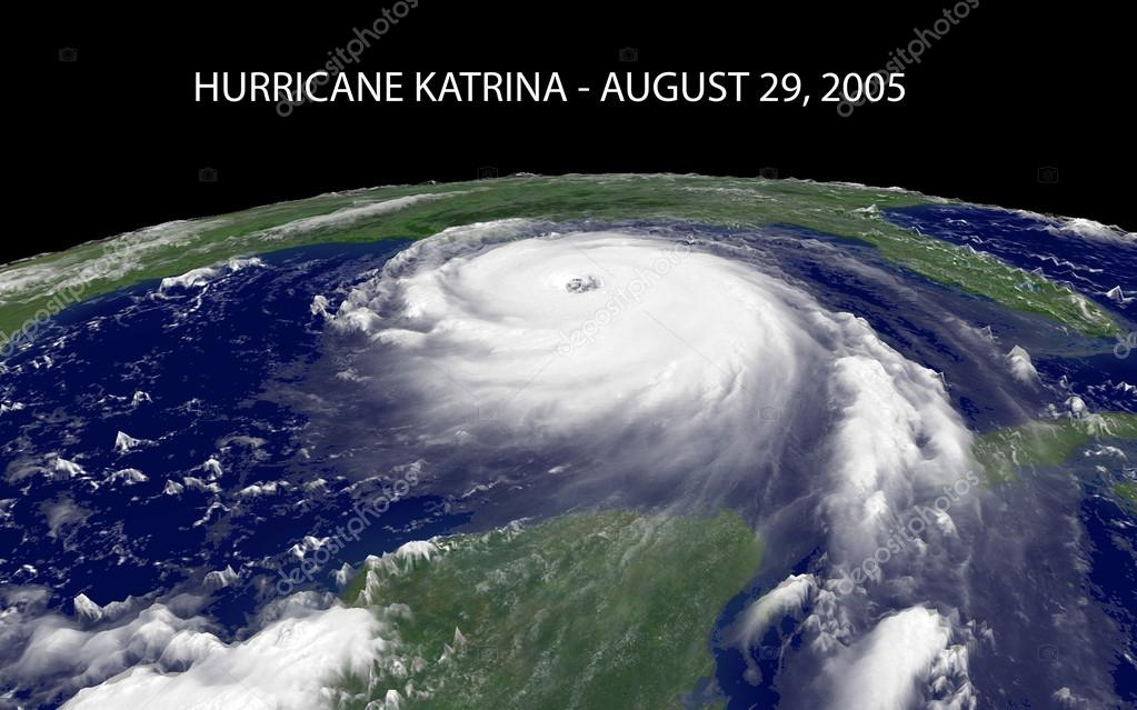 Hurricane Katrina over The Gulf of Mexico