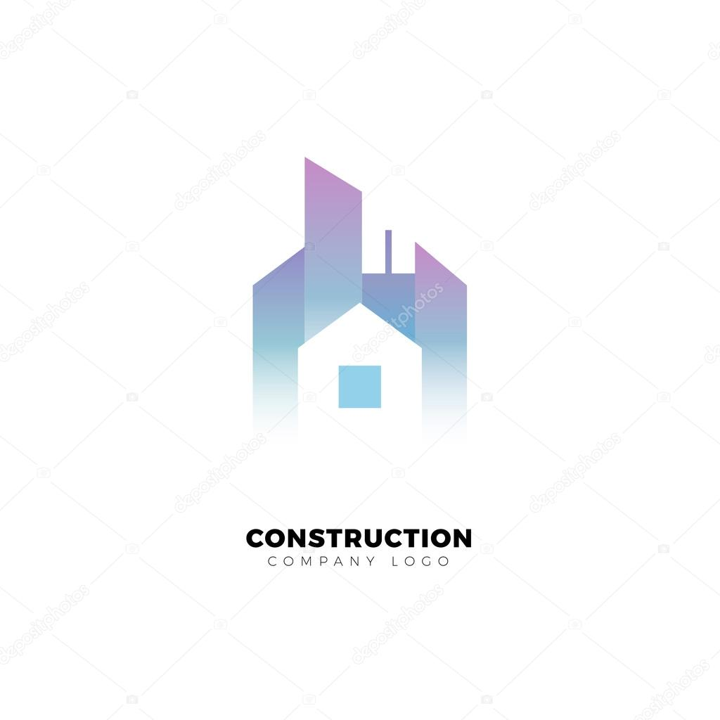 Building And Construction Company Logo Skyscraper Small House City Vector Design Template