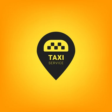 Black and yellow Taxi logo