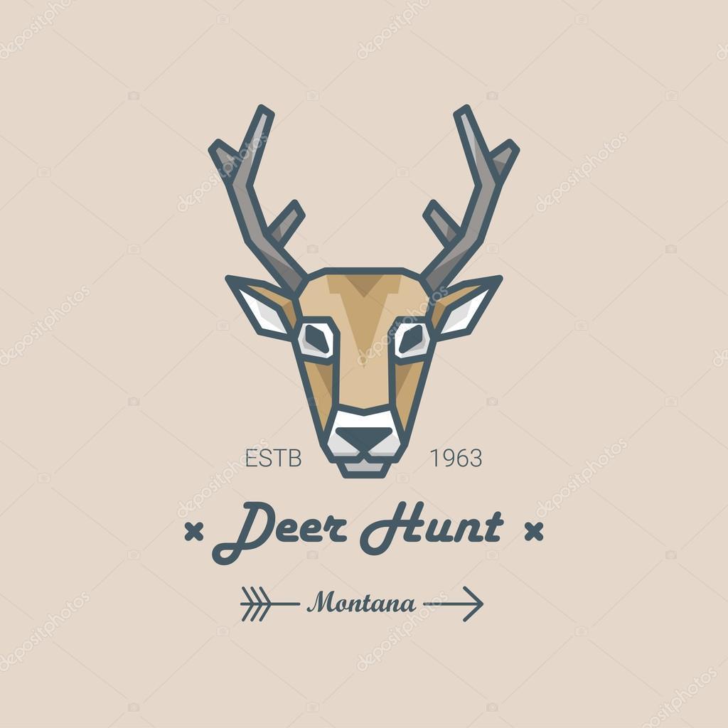 Deer Head Logo Stock Vector